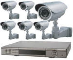 Lasertech 8-Chanel 240 FPS DVR with 6-Bullet Color Cameras