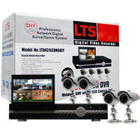 Lasertech 4-Channel Camera System with Four Night Vision Cameras